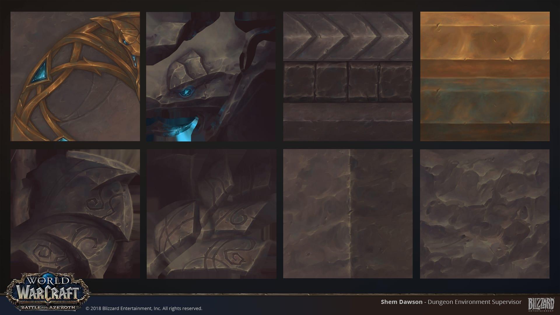Texturas del escenario mostrado por Shem Dawson en su portfolio 3D Artist