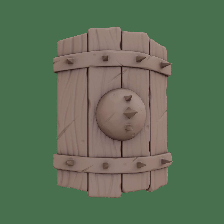 curso esculpido personajes 3d escudo